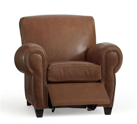 pottery barn manhattan recliner review leather recliners are great father s day gifts for dad and