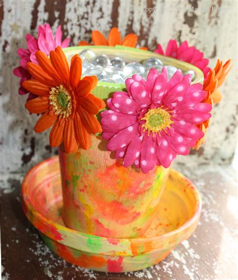 flower pot crafts for ilovetocreate ilovetocreate crafts neon