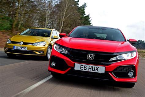 Volkswagen Vs Honda by Honda Civic Vs Volkswagen Golf Vs Renault Megane
