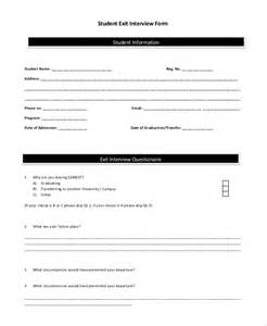 exit form template sle exit form 10 exles in pdf word