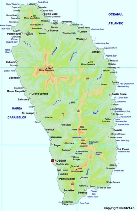 dominica on a map map of dominica maps worl atlas dominica map