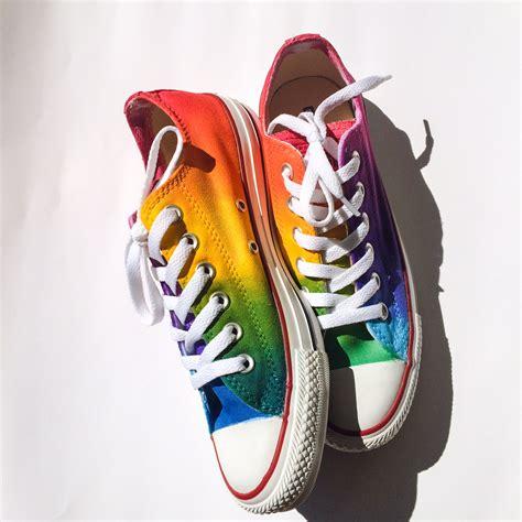 Converse Rainbow rainbow low top converse intellexual design llc custom