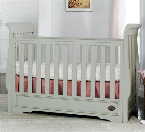 Bonavita Sawyer Classic Crib In Linen Gray Baby Girl Bonavita Baby Crib