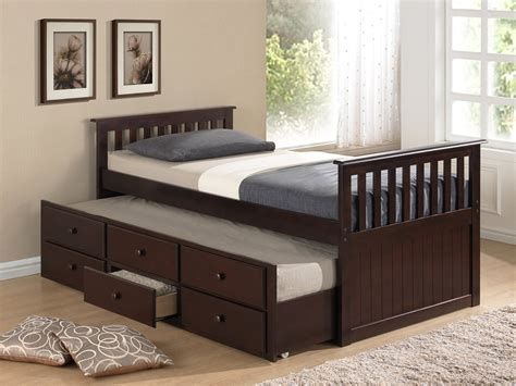 pull out twin bed twin bed with pull out slide out trundle bed underneath