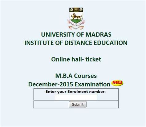 Madras Distance Education Mba Results 2017 by Madras Ticket 2018 2019 Student Forum