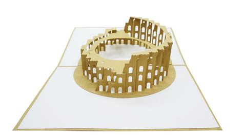 colosseum pop up card template 25 best architecture 3d pop up card images on