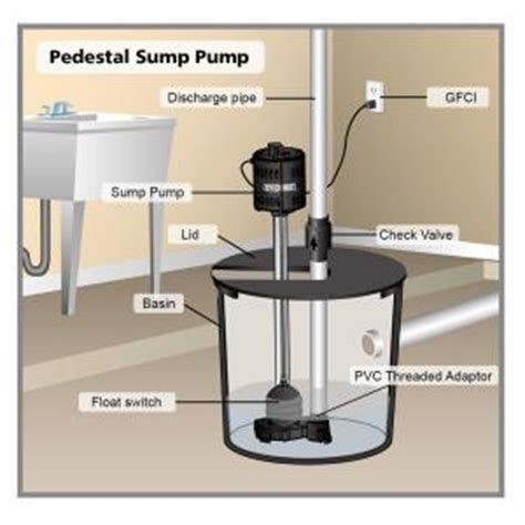 everbilt 1 3 hp pedestal sump scn250 lq the home depot