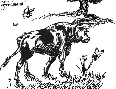 ferdinand coloring book great coloring book for books ferdinand the bull bw by lynxmom on deviantart