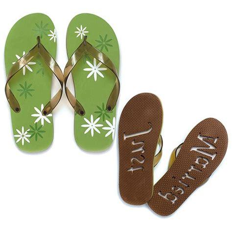 just married flip flops just married flip flops sandals graphic daisy quot just married quot flip flop sandals the knot shop