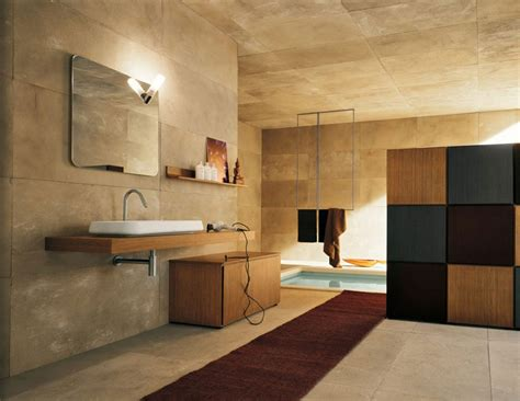 Top Design Modern Bathroom With Stone Walls Interior Pics Of Modern Bathrooms