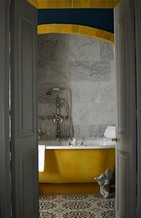 Grey and yellow bathroom home pinterest