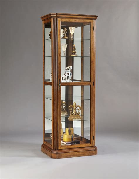 Pulaski Oak Curio Cabinet by Pepper Oak Mantel Curio Cabinet By Pulaski