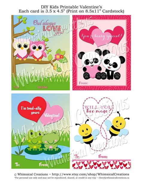 whimsicalcreations ca printable cards for