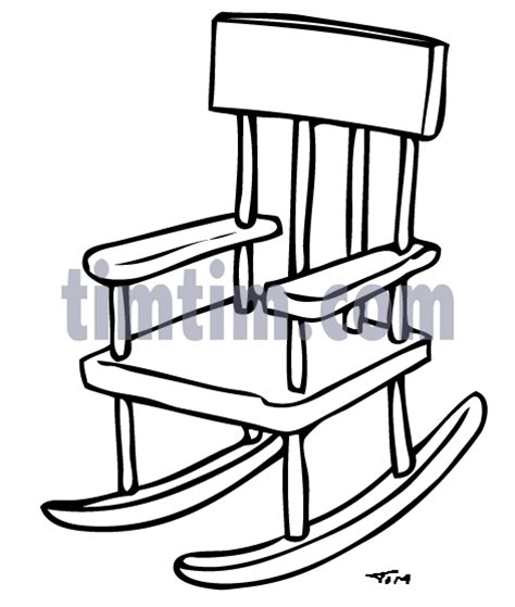 kids rocking chair drawing free drawing of rocking chair bw2 from the category