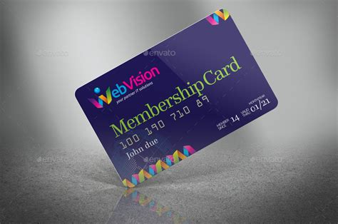 Credit Card Design Template Word Membership Card Credit Card Mock Up By Jrohcreative Graphicriver