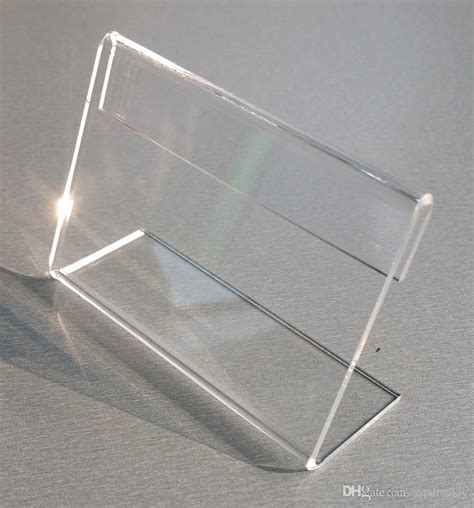 Display Acrylic A4 Horizontal various smaller size t2mm clear acrylic plastic sign display paper label card price tag holder l