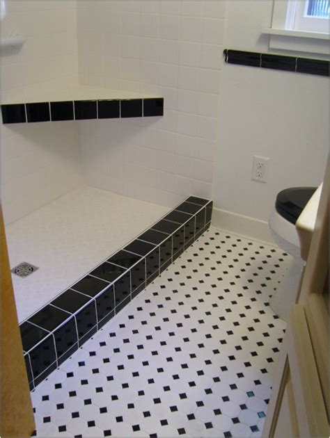 black and white tile bathroom floor 30 pictures of bathroom design with large subway tile