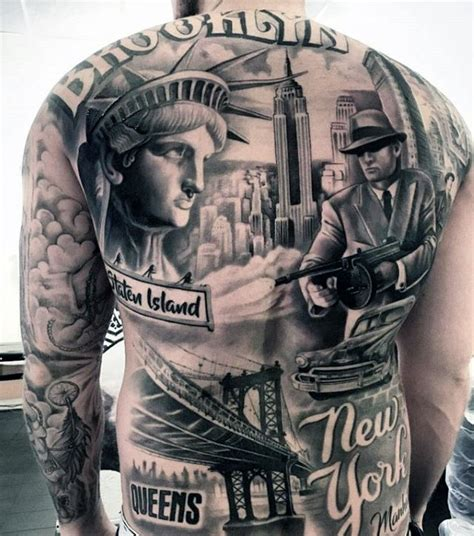 new york themed tattoo 50 unbelievable tattoos for men inconceivable ink design