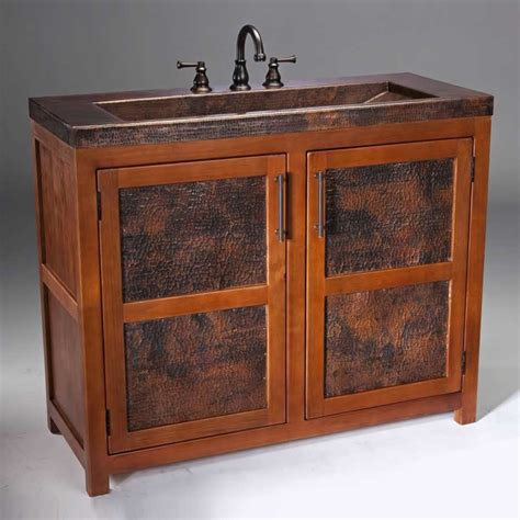 thompson traders 42 quot grande rustic single sink bathroom