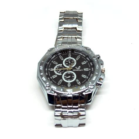 orlando stainless steel band quartz with tachymeter