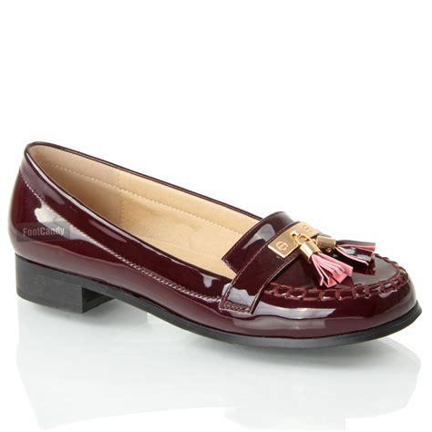 womens flat smart casual formal vinatge loafers
