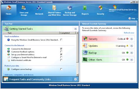 windows sbs console monitoring windows small business server 2011 using