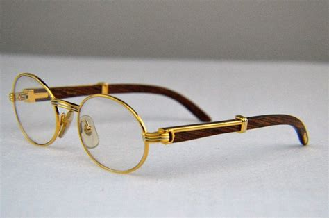 Kacamata Sunglass Ariel Noah Sale Gold Auth Cartier C Decor Bubinga Wood Gold Silver Plated
