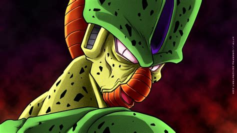 dragon ball cell wallpaper dragon ball z wallpapers imperfect cell