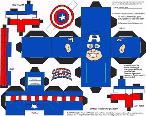 Captain America Papercraft - captain america papercraft free printable papercraft