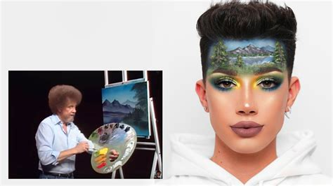 james charles bob ross forehead i tried following a bob ross tutorial on my face youtube
