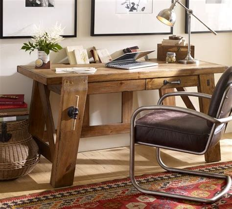 bench style workplace desks from pottery barn and