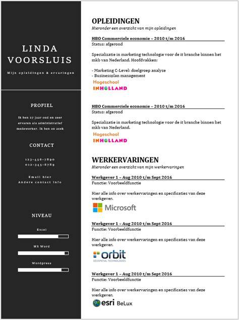 cv template word nl curriculum vitae voorbeeld word kopen sollicitatieinfo nl