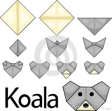 How To Make A Origami Koala - illustrator of koala origami stock image image 36209951