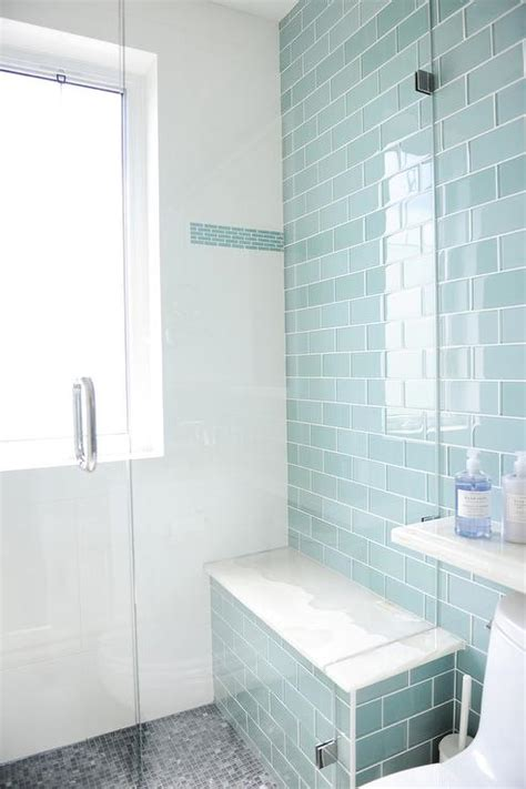 Glass Subway Tile Shower by Blue Glass Shower Tiles Design Decor Photos Pictures