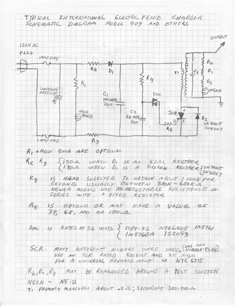 electric fence circuit diagram solid state electric fence charger schematic solid get