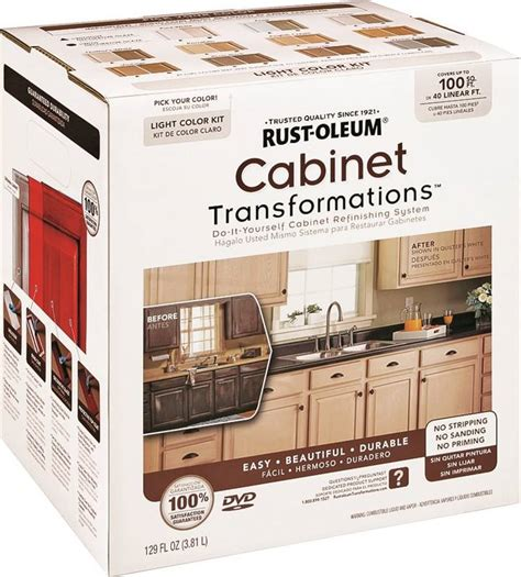 Krylon Transitions Kitchen Cabinet Paint Kit Rust Oleum 258109 Small Cabinet Transformations Kit 9 Pieces Acrylic Light Tint Base Clear