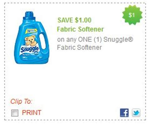 printable coupons fabric softener printable coupons snuggle all and clorox2