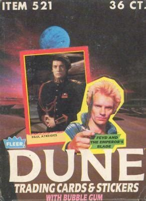 Dune Gift Card - dune trading cards wax box 1987 fleer da card world