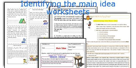 main idea and themes reading plus english teaching worksheets identifying the main idea