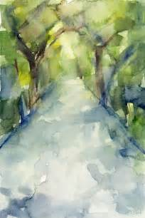 Path conservatory garden central park watercolor painting painting by