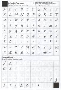 story font template how to create a signature in your own handwriting