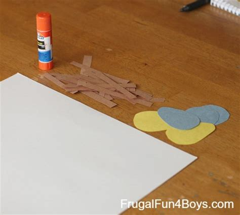 Construction Paper Crafts For Boys - toddler craft construction paper bird s nest frugal