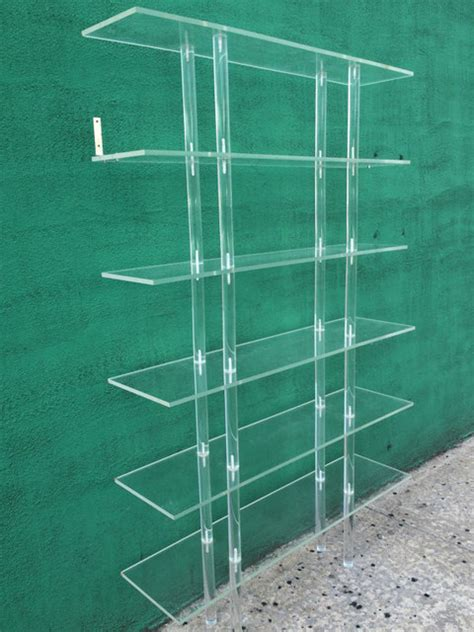 Vintage Lucite Bookcase 201 Tag 232 Re By At 1st Sight Lucite Bookshelves