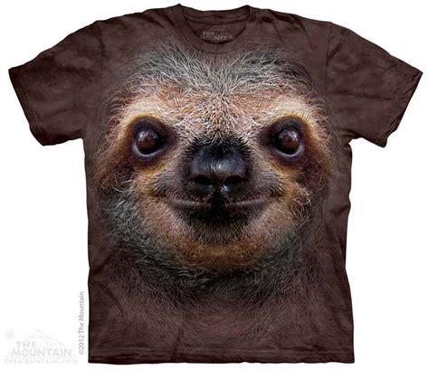 Kaos Wildlife sloth shirt tie dye t shirt wildlife