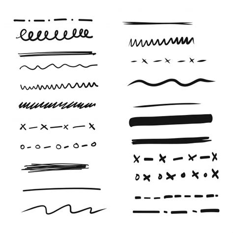 free doodle lines line vectors photos and psd files free