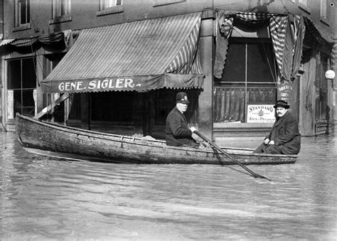 rowboat in a flood 24 amazing vintage photographs of the rochester s great