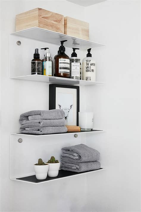 decorating bathroom shelves best 25 bathroom shelves ideas on powder room