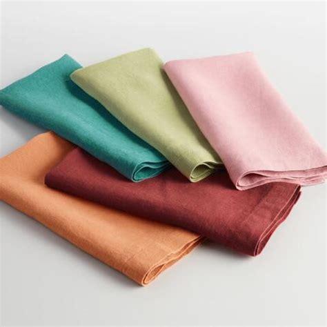 green linen table napkins green linen napkins set of 4 market