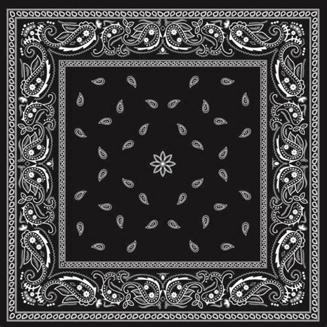 bandana print tattoo black with white bandana patterns design vector 02