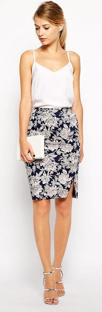brightened you re style with floral pencil skirt